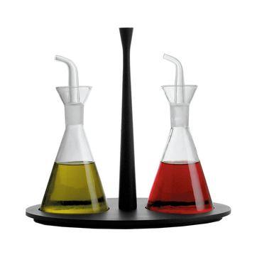 Alessi - Colombina - zestaw do oliwy i octu - pojemność: 2 x 0,19 l