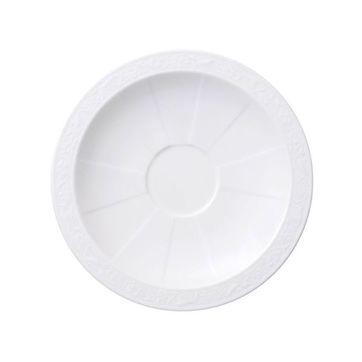 Villeroy & Boch - White Pearl - spodek do filiżanki do kawy lub herbaty - średnica: 16 cm