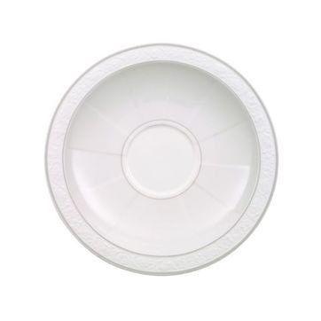 Villeroy & Boch - Gray Pearl - spodek do filiżanki śniadaniowej lub bulionówki - średnica: 18 cm