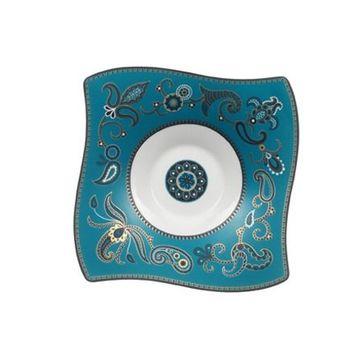 Villeroy & Boch - Samarah Turquoise - spodek do filiżanki do herbaty - wymiary: 17 x 17 cm