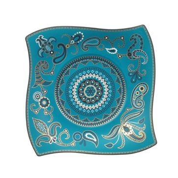 Villeroy & Boch - Samarah Turquoise - talerz sałatkowy - wymiary: 24 x 24 cm