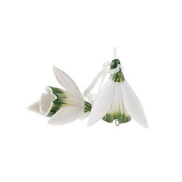 Villeroy & Boch - Mini Flower Bells - 2 małe zawieszki - przebiśniegi
