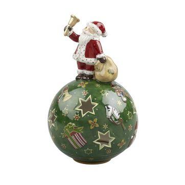 Villeroy & Boch - Christmas Light - lampion Mikołaj z dzwoneczkiem - wysokość: 14 cm