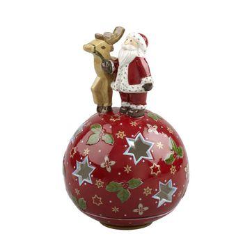 Villeroy & Boch - Christmas Light - lampion Mikołaj z reniferem - wysokość: 14 cm