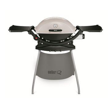 Weber - Q 220 Stand - grill gazowy - rozkładane stoliki boczne