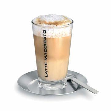 Blomus - Cono - zestaw do latte - szklanka, łyżeczka, spodek