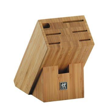 Zwilling - bambusowy blok na noże - na 5 noży, ostrzałkę i nożyczki