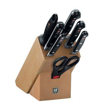 Zwilling - Professional S - drewniany blok z nożami - 5 noży, ostrzałka, nożyczki