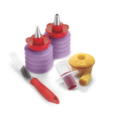 Cuisipro - Cupcake - zestaw do dekorowania babeczek - 4 elementy