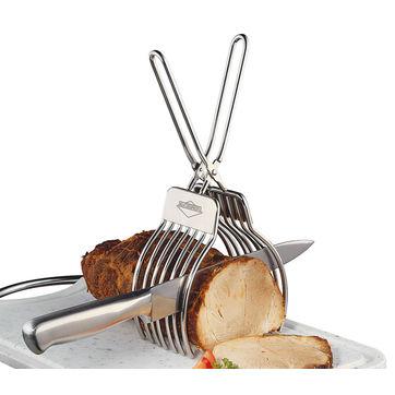 Küchenprofi - uchwyt ze szczypcami do krojenia pieczeni - wysokość: 29 cm