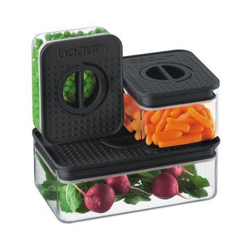 Bodum - Bistro - zestaw 3 pojemników - pojemność: 0,25; 0,5 i 1,0 l