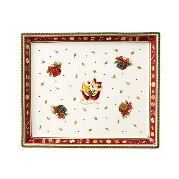 Villeroy & Boch - Winter Bakery Delight - mały talerz na ciasto - wymiary: 27 x 22,5 cm
