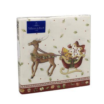 Villeroy & Boch - Winter Bakery Specials - serwetki z saniami - wymiary: 25 x 25 cm