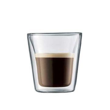 Bodum - Canteen - 2 szklanki o podwójnych ściankach - pojemność: 0,1 l