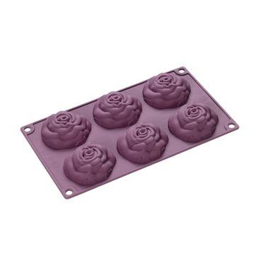 Lurch - FlexiForm - forma na 6 ciastek - róże - wymiary: 30 x 17,5 cm