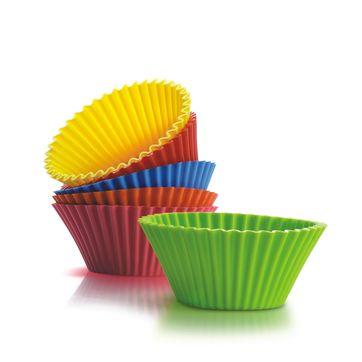 Silicone Zone - Bake n' joy - 6 dużych foremek na muffiny - średnica: 10,5 cm