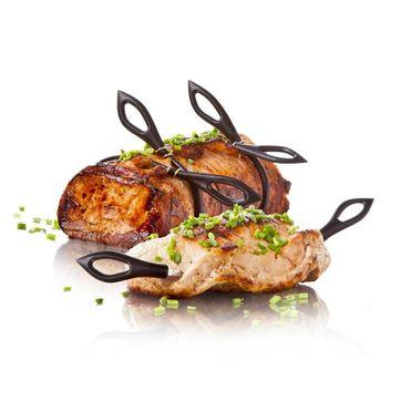 Tomorrow's Kitchen - zestaw do pieczenia mięs - 4 szpikulce + 4 sznurki z klipsami