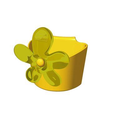 Koziol - A-pril - pojemniczek zawieszany na kubek - wymiary: 6,5 x 6,3 cm