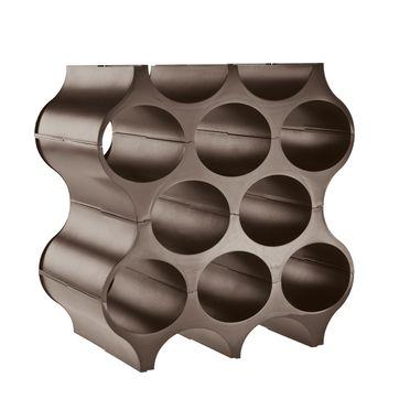 Koziol - Set-Up - stojak na butelki - wymiary: 23,3 x 36 x 35,4 cm