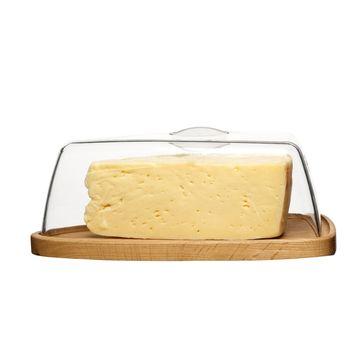 Sagaform - Nature - deska do sera z pokrywą - wymiary: 25 x 16,5 x 8,5 cm