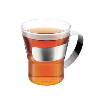 Bodum - Assam - 2 szklanki ze stalowym uchwytem - pojemność: 0,2 l