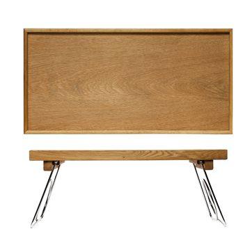 Sagaform - Nature - rozkładany stolik śniadaniowy - wymiary: 50 x 30 x 24,5 cm