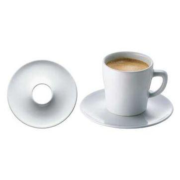 Bodum - Hole in One - komplet filiżanek do espresso - dla 4 osób; podstawki z dziurką w środku