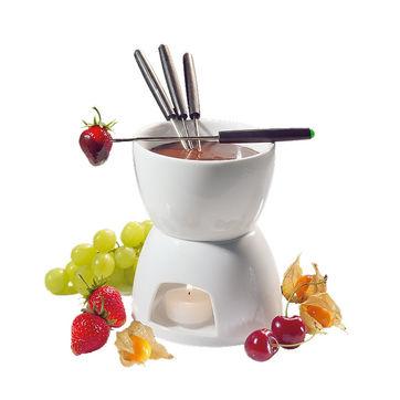Cilio - zestaw do fondue czekoladowego - wysokość: 15,5 cm