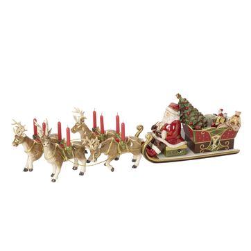 Villeroy & Boch - Christmas Toys Memory - sanie św. Mikołaja - świecznik i pozytywka - wymiary: 22 x 70 x 16 cm