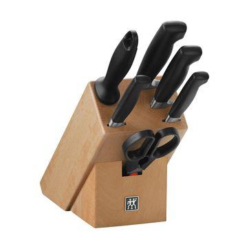 Zwilling - FOUR STAR - zestaw noży w bloku - 4 noże, ostrzałka i nożyczki