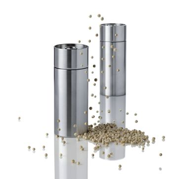 Stelton - Cylinda Line - młynki do pieprzu i soli - wysokość: 12,5 cm