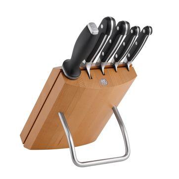 Zwilling - ZWILLING Pro - zestaw noży w bloku - 4 noże i ostrzałka
