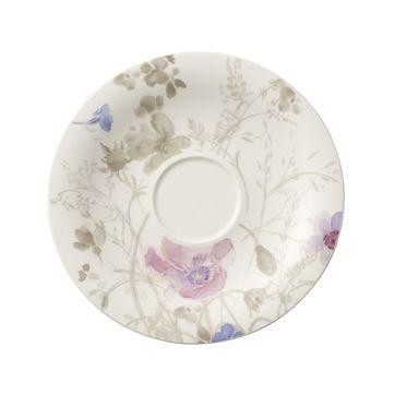 Villeroy & Boch - Mariefleur Gris Basic - spodek do filiżanki śniadaniowej - średnica: 19 cm