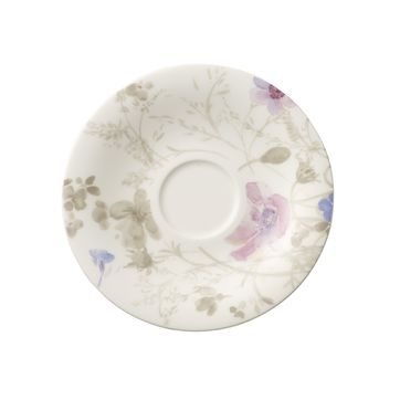 Villeroy & Boch - Mariefleur Gris Basic - spodek do filiżanki do kawy lub herbaty - średnica: 16 cm