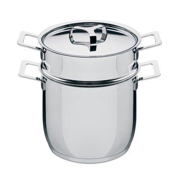 A di Alessi - Pots&Pans - garnek z wkładem do makaronu - średnica: 20 cm; pojemność: 5,0 l