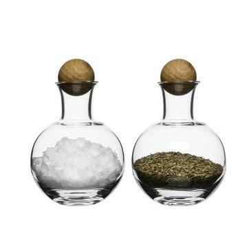 Sagaform - Nature - 2 buteleczki na przyprawy - wysokość: 12 cm