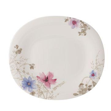 Villeroy & Boch - Mariefleur Gris Basic - owalny talerz Gourmet - wymiary: 32 x 28 cm