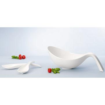 Villeroy & Boch - Flow - zestaw do sałatek - miska + łyżki do serwowania