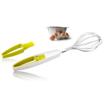 Tomorrow's Kitchen - trzepaczka z silikonowym pędzelkiem - długość: 32 cm