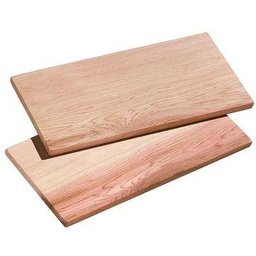 Küchenprofi - Smoky - 2 duże deski do grilla - wymiary: 40 x 15 cm