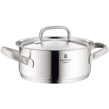 WMF - Gourmet Plus - niski garnek z pokrywką - średnica: 24 cm; pojemność: 4,1 l