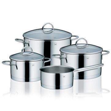 Kela - Cailin - komplet 4 garnków ze stali nierdzewnej - pojemność: 1,5 l; 2 l; 3,5 l; 6 l