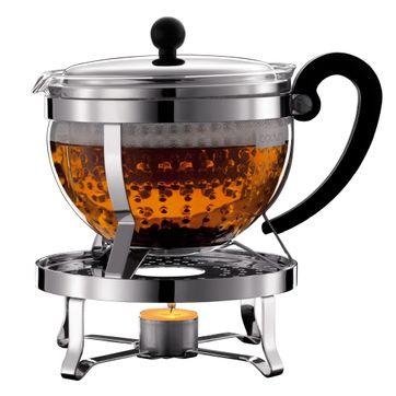 Bodum - Chambord - dzbanek do herbaty z podgrzewaczem - pojemność: 1,5 l