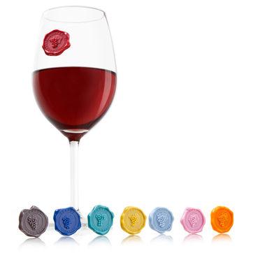 Vacu Vin - znaczki na szklanki i kieliszki - 8 sztuk