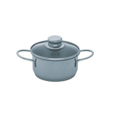 Fissler - Snack Set - mały garnek z pokrywką - średnica: 12 cm; pojemność: 0,6 l