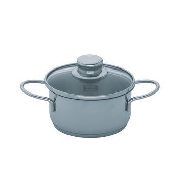 Fissler - Snack Set - mały garnek z pokrywką - średnica: 14 cm; pojemność: 1,0 l