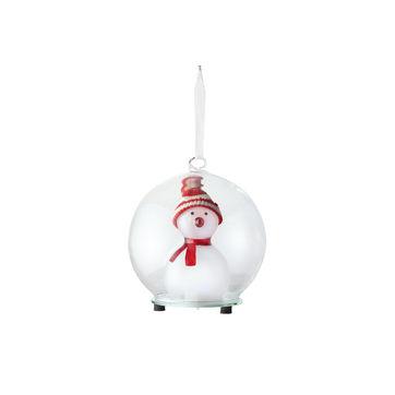 Philippi - Christmas - świecąca kula z bałwankiem - wysokość: 12 cm