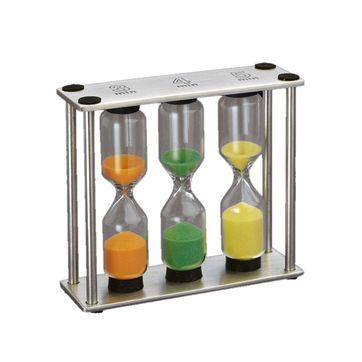 Cilio - timer - trzy klepsydry - wymiary: 9 x 8 x 3 cm