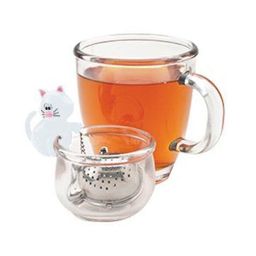 MSC - Meow - zaparzacze do herbaty z miseczką - średnica: 4 cm
