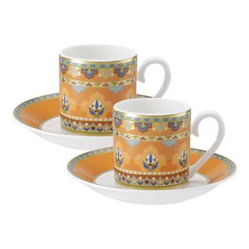 Villeroy & Boch - Samarkand Mandarin - zestaw do espresso - dla 2 osób